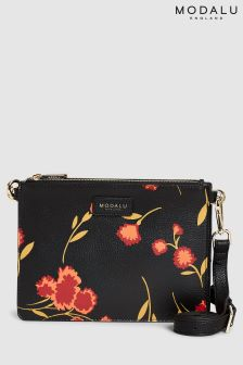 Modalu Black Print Jessica Crossbody Bag