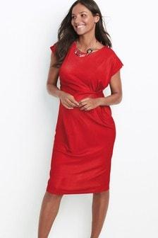 Облегающее платье для беременных с перекрученной отделкой