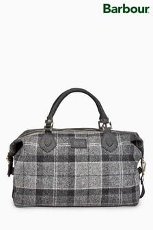 Barbour® Grey Shadow Tartan Explorer Bag