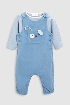 Dog Dungarees And Bodysuit Set (0mths-2yrs)