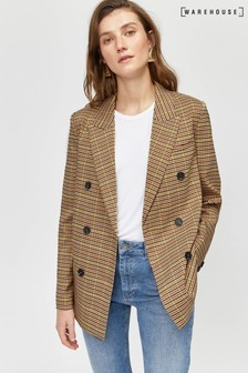 Warehouse Black Tailored Oversized Blazer
