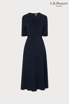 שמלה כחולה דגם Mariannשל L.K.Bennett