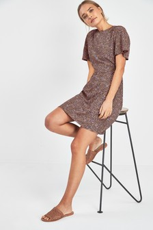 Short Sleeve Tea Dress
