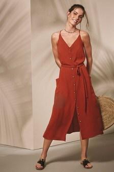 Button Pocket Dress