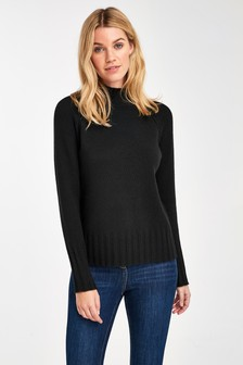 Cashmere Funnel Neck Jumper