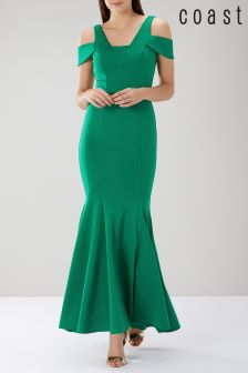 Coast Green Reveal Scuba Maxi Dress