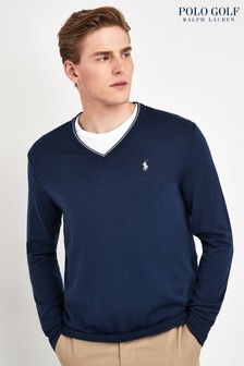Polo Golf by Ralph Lauren Navy V-Neck Jumper
