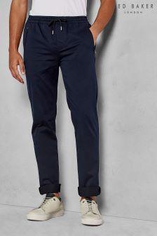 Ted Baker Navy Zipcuff Slim Fit Sporty Trouser
