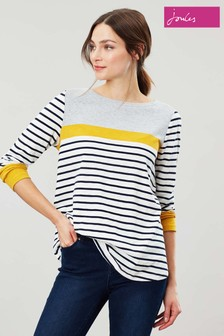 Joules Cream Harbour Light Swing Jersey Top