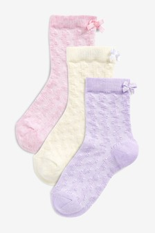 Textured Socks Three Pack (Younger)