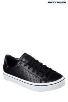 Skechers® Black Hi-Lite Perfect Leather Lace-Up