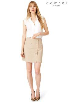 Damsel Camel Fia Safari Skirt