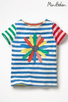 Boden Blue Hotchpotch Appliqué T-Shirt