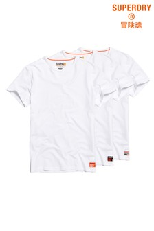 Superdry White T-Shirts Three Pack
