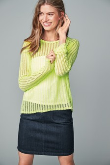 Crochet Long Sleeve T-Shirt