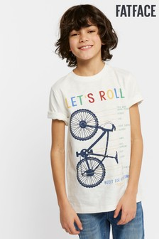 FatFace Natural Lets Roll Graphic Tee