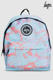 Hype. Blue Pastel Marble Backpack