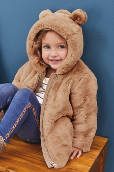 Faux Fur Jacket (12mths-7yrs)