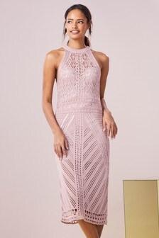 Платье с эффектом кроше