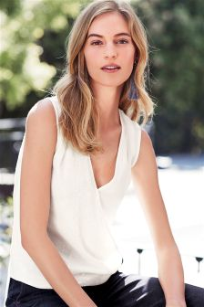 Sequin Draped Shell Top