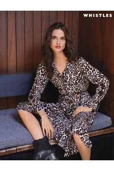 Whistles Leopard Print Maxi Dress