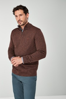 Marl Zip Neck