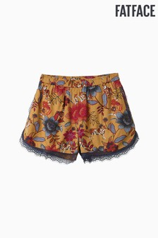 FatFace Yellow Tiger Floral Lace Short