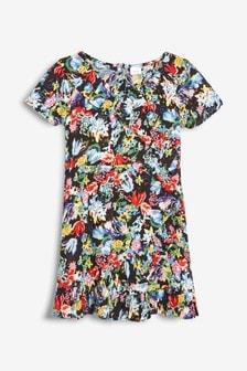 Printed Wrap Dress (3-16yrs)