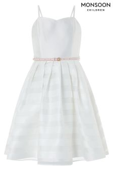 Monsoon White Elowen Prom Dress