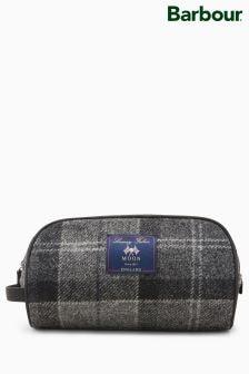 Barbour® Grey Shadow Tartan Wash Bag