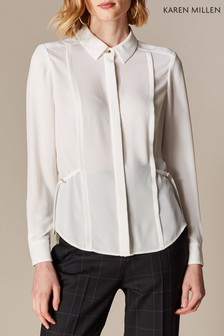 670413be9eed10 Karen Millen Ivory Soft Off White Blouse