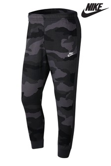 Nike Club Dark Grey Camo Joggers