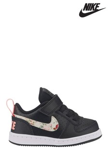 Nike Black/Floral Court Borough Infant Trainers