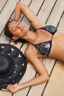 Embellished Triangle Bikini Top