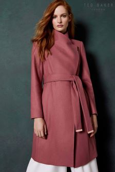 Ted Baker Sandra Long Wool Wrap Coat