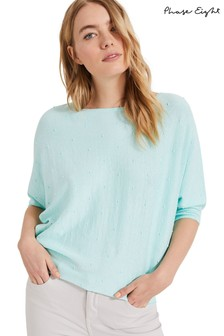 Phase Eight Green Becca Linen Blend Spot Knit