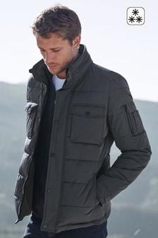 Стеганая куртка с воротником хомутом