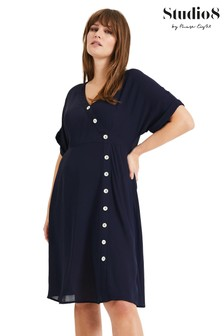 Studio 8 Blue Annalise Button Dress