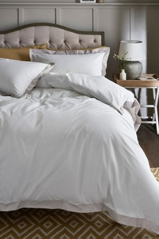 Natural Border Duvet Cover and Pillowcase Set