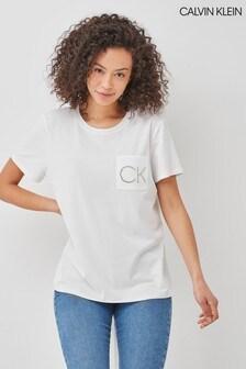 Calvin Klein White Pocket Detail T-Shirt