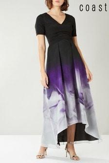 Черное платье с принтом Coast Tokyo