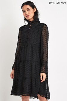 Sofie Schnoor Black Textured Dress