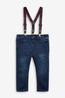 Tartan Brace Jeans (3mths-7yrs)