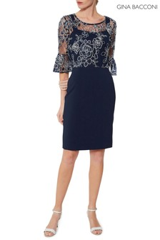 Gina Bacconi Blue Carina Dress And Overtop