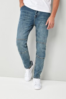 Utility-Jeans im Tapered Fit