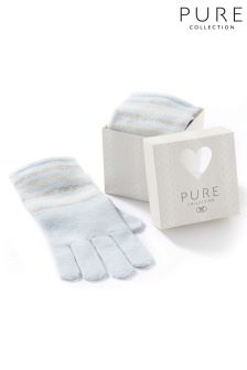 Pure Collection Blue Stripe Toccato Glove In A Box