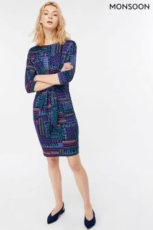 Monsoon Navy Priya Tunic Dress