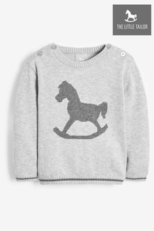 The Little Tailor Grey Baby Knitted Jumper
