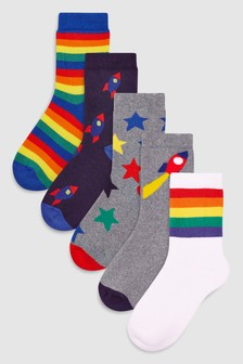 Rocket Socks Five Pack (Younger)