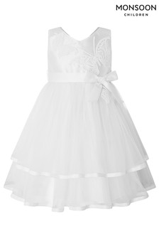 Monsoon Ivory Baby Gianna Butterfly Dress